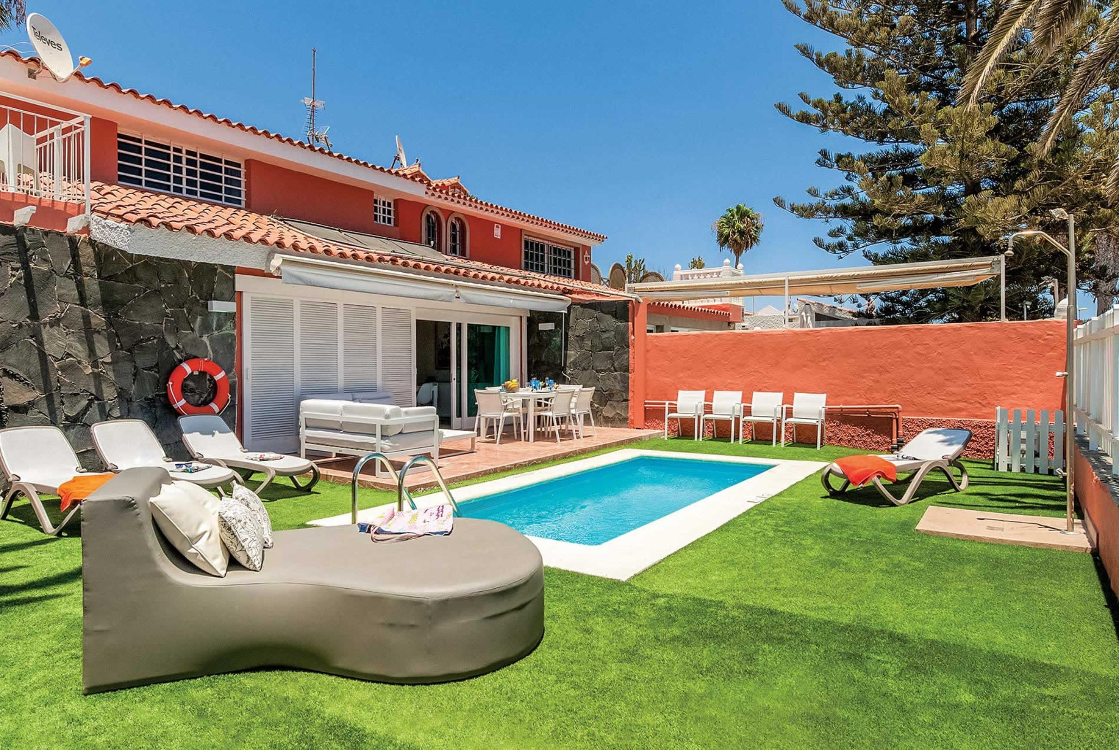 Holiday house Casa El Veril (2654309), Maspalomas, Gran Canaria, Canary Islands, Spain, picture 1