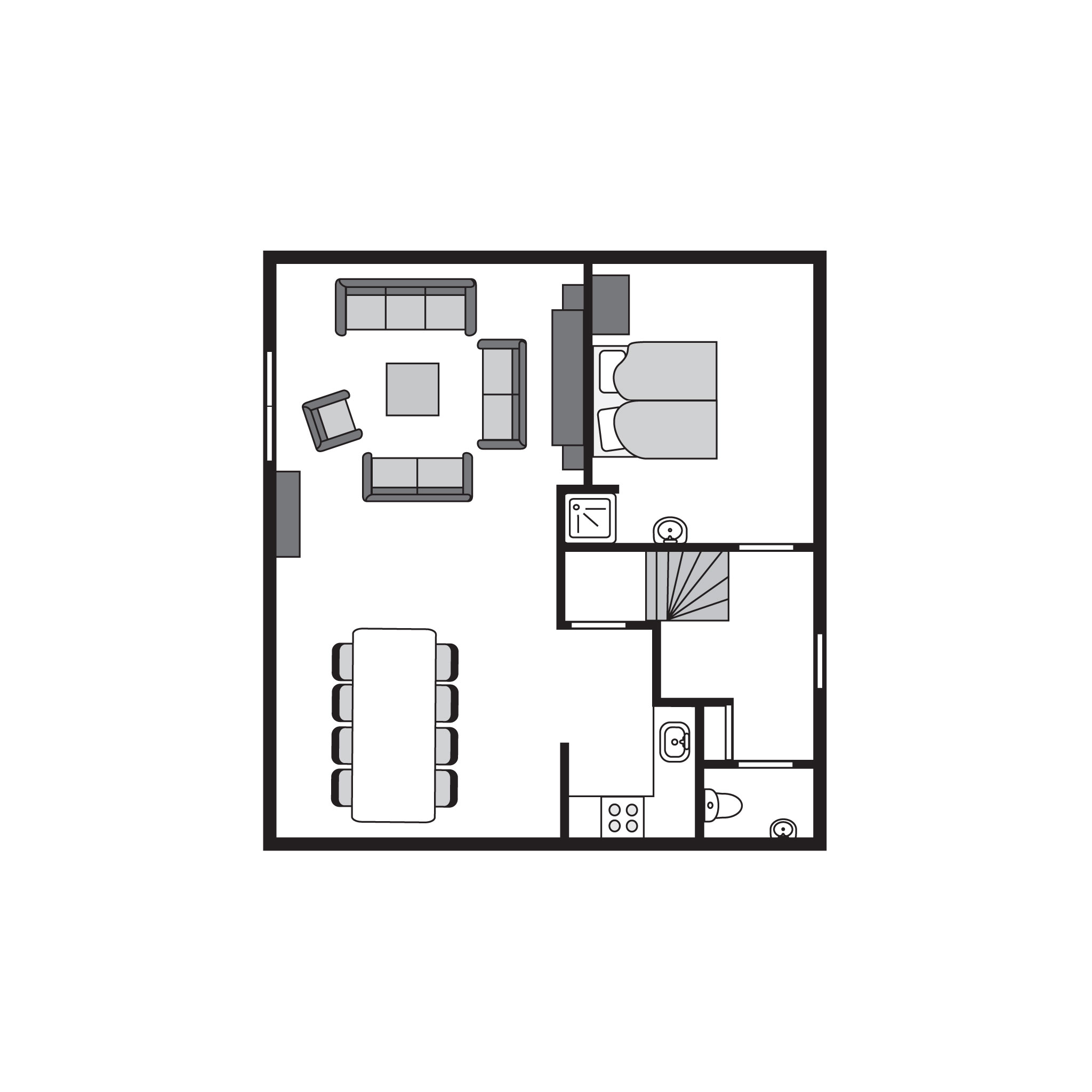 Ferienwohnung Komfort 8-Personen-Ferienhaus im Ferienpark Landal Duinpark 't Hof van Haamstede - an der  (2596948), Burgh Haamstede, , Seeland, Niederlande, Bild 21